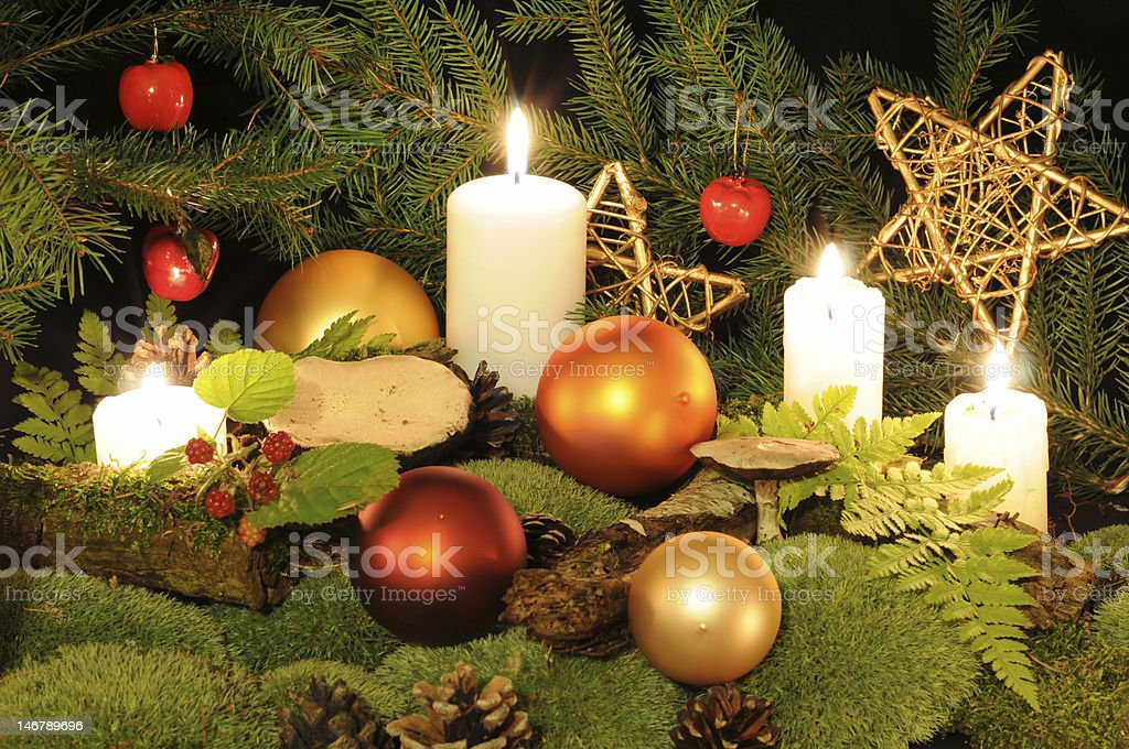 Christmas in the wood royalty-free stock photo