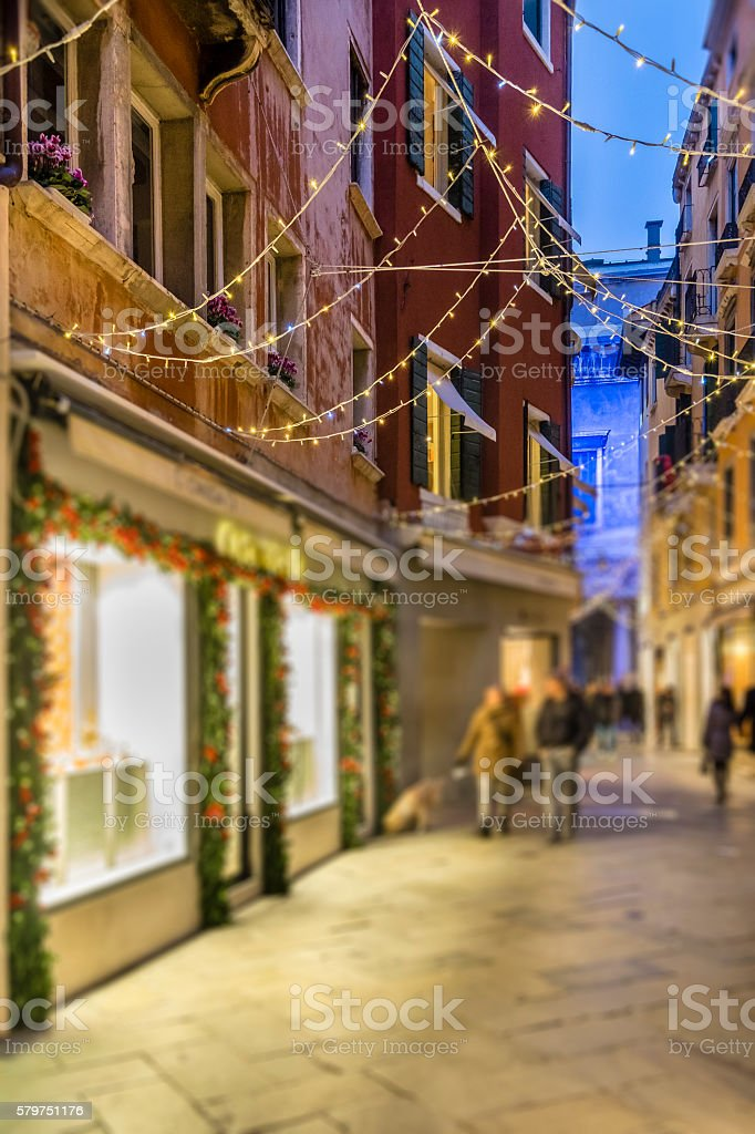 Christmas in Venice, Old Town - Italy stock photo