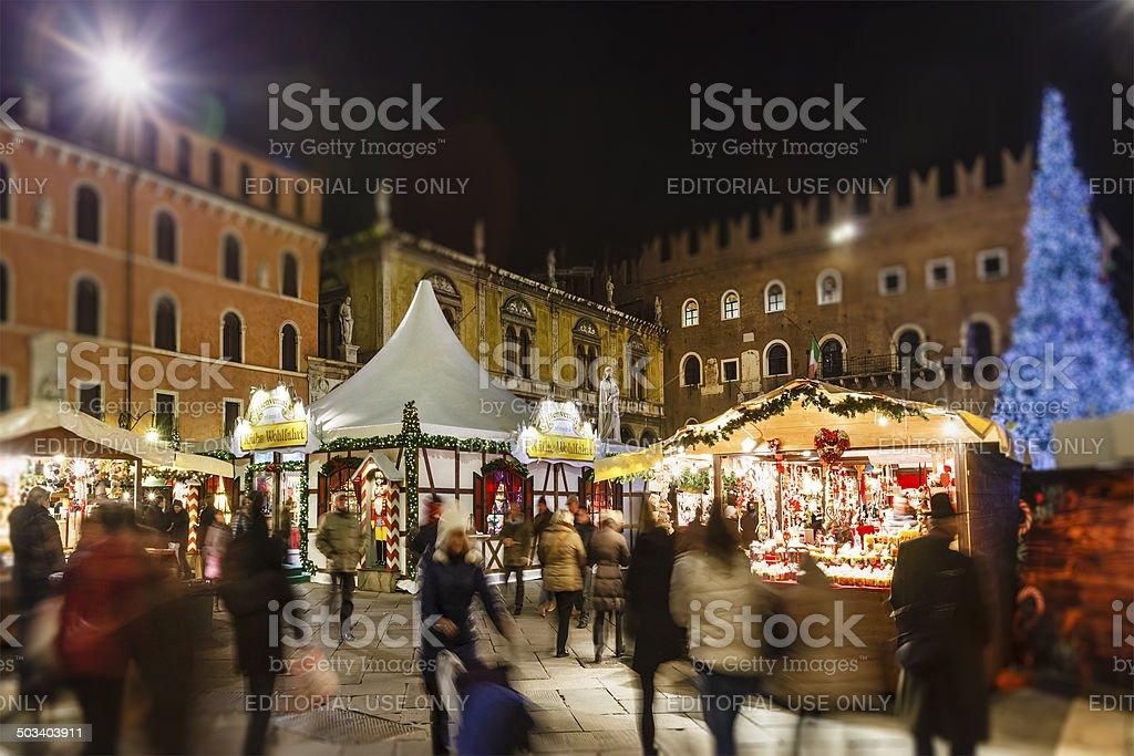 Christmas in Verona, Italy stock photo