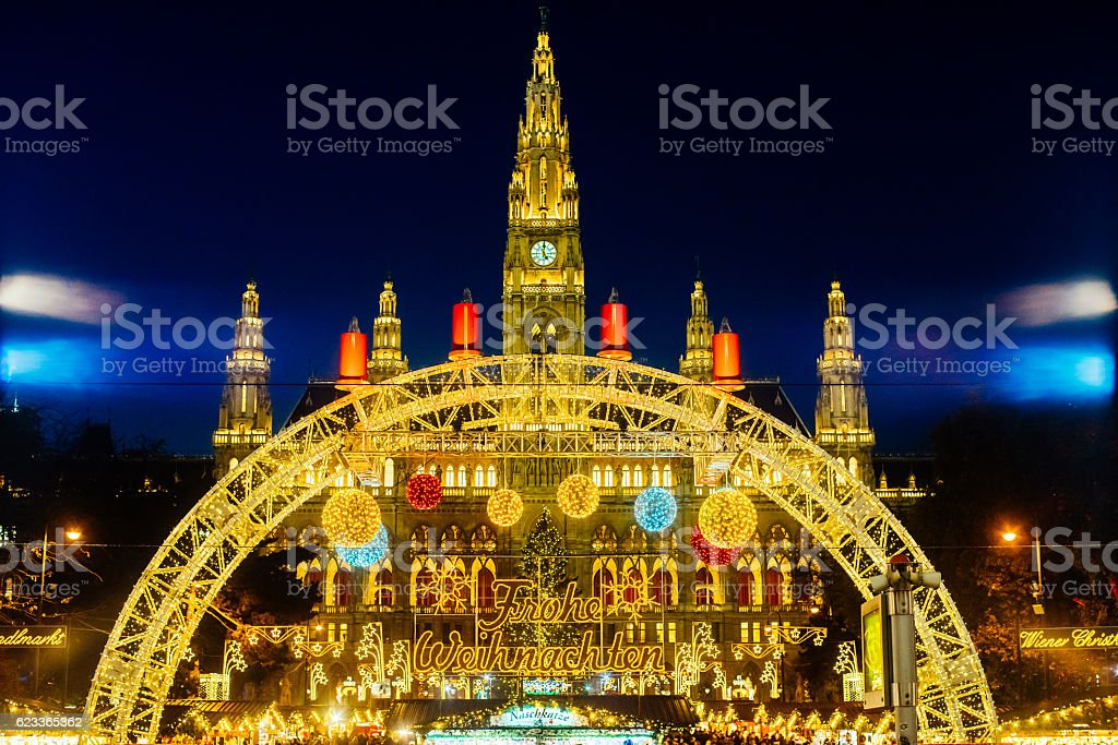 Christmas in Vienna stock photo