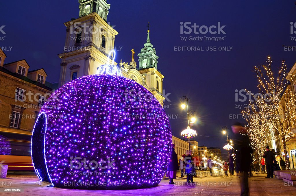 Christmas in Warsaw royalty-free stock photo