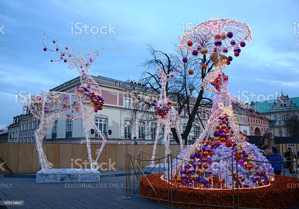 Christmas in Warsaw stock photo