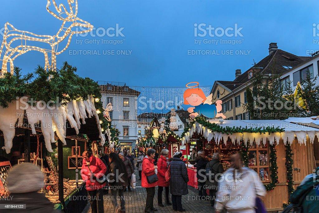 Christmas in Winterthur, Switzerland stock photo