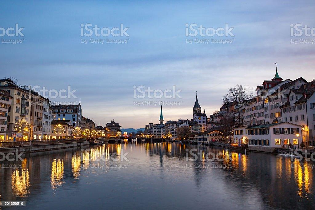 Christmas in Zurich, Switzerland stock photo