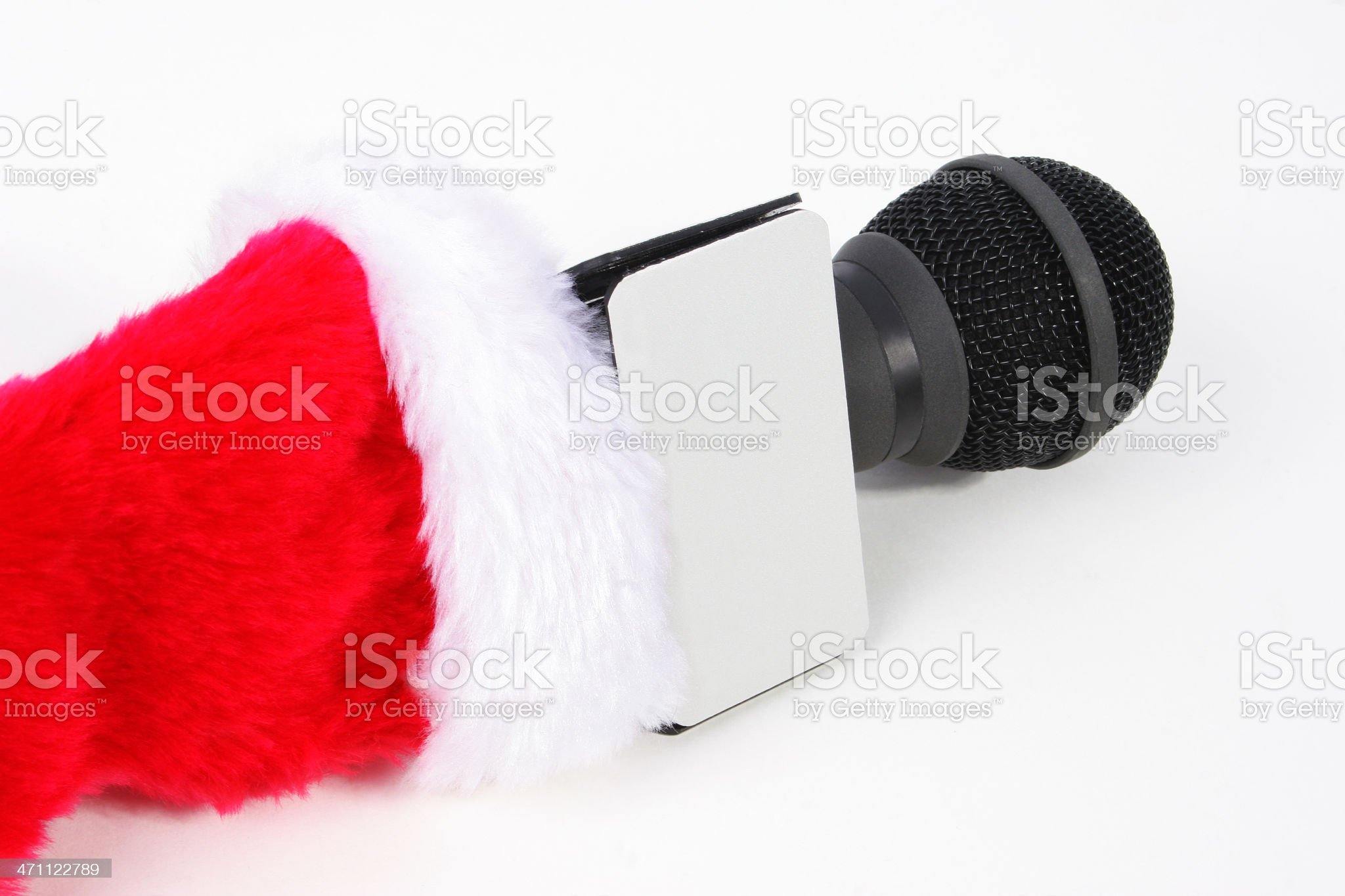 Christmas interview royalty-free stock photo
