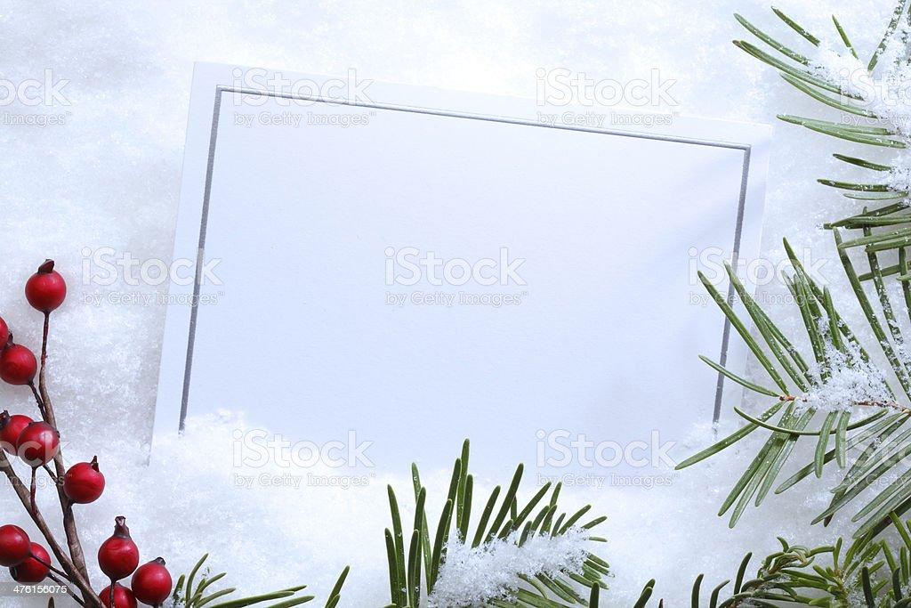 Christmas Invitation royalty-free stock photo