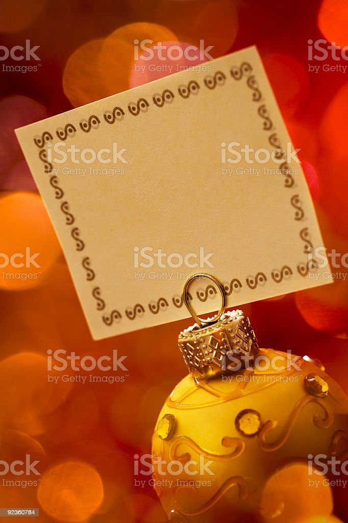 Christmas Invitation stock photo