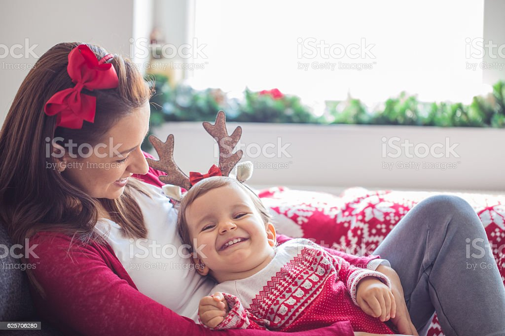 Christmas is a beautiful day stock photo