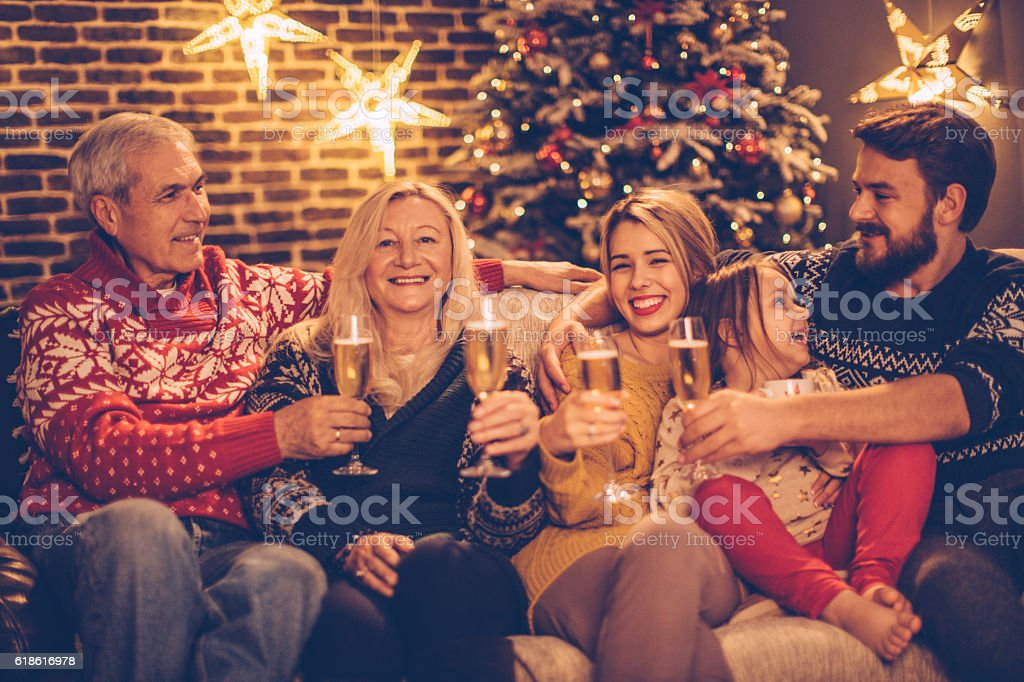 Christmas is a time for family stock photo