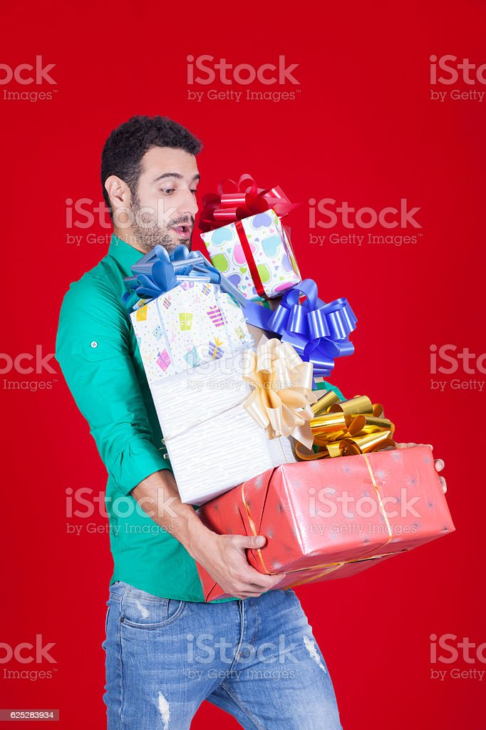 Christmas is full of gifts stock photo