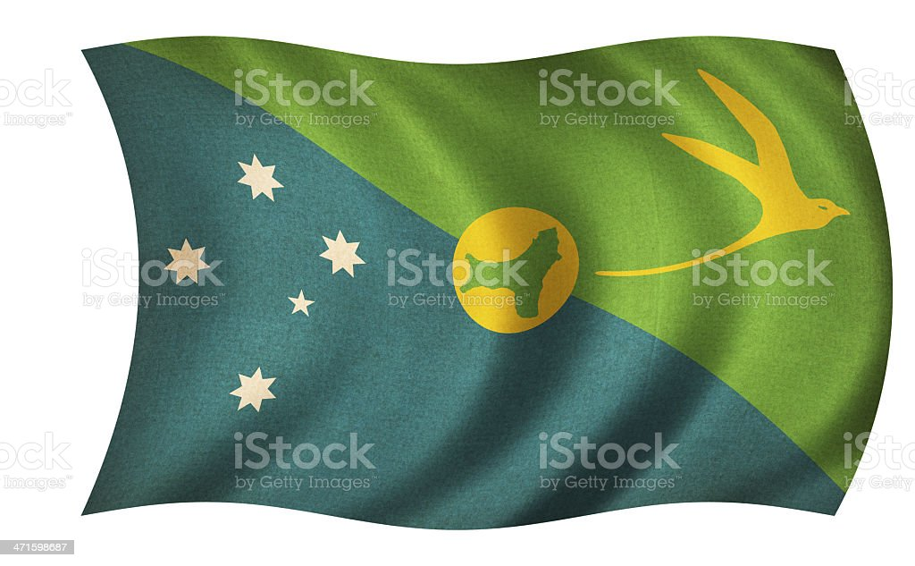 Christmas Island Flag royalty-free stock photo