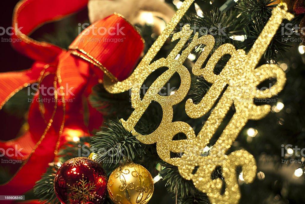 Christmas Jingle Bells stock photo