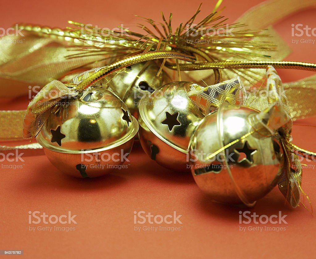 christmas jingle bells stock photo