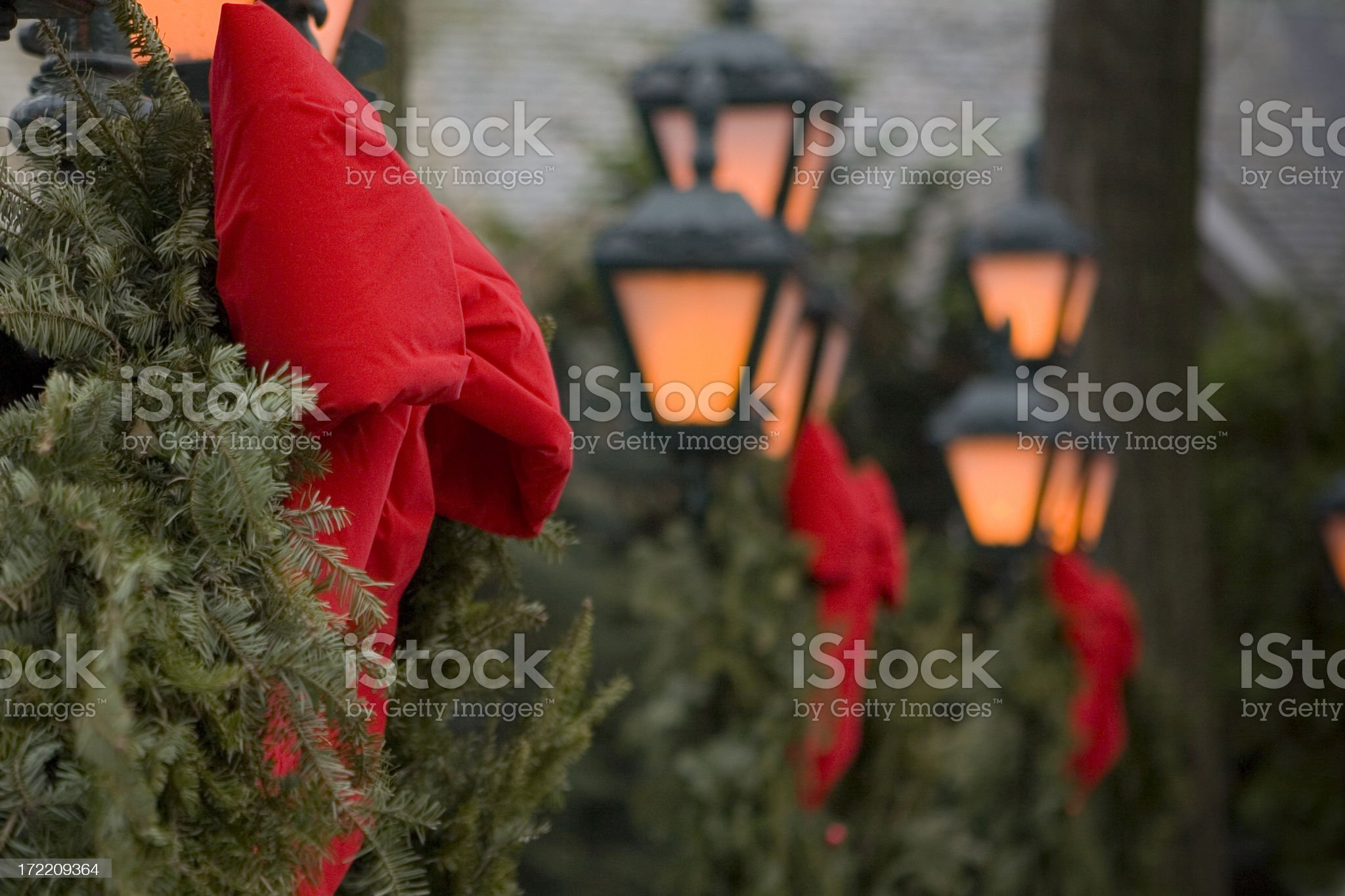 Christmas Lamp Posts royalty-free stock photo