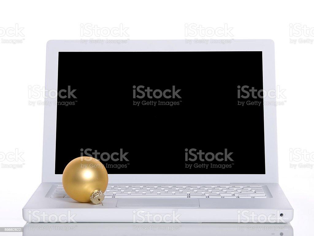 Christmas Laptop royalty-free stock photo