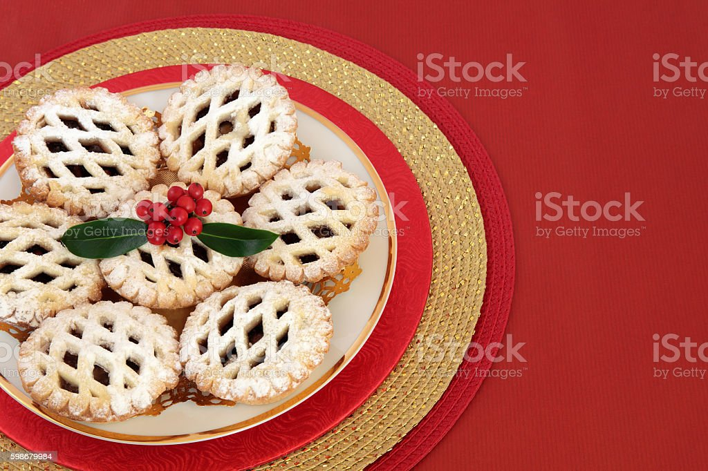 Christmas Latticed Mince Pies stock photo