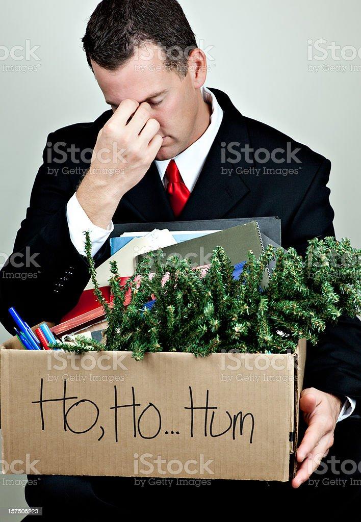 Christmas Layoff stock photo