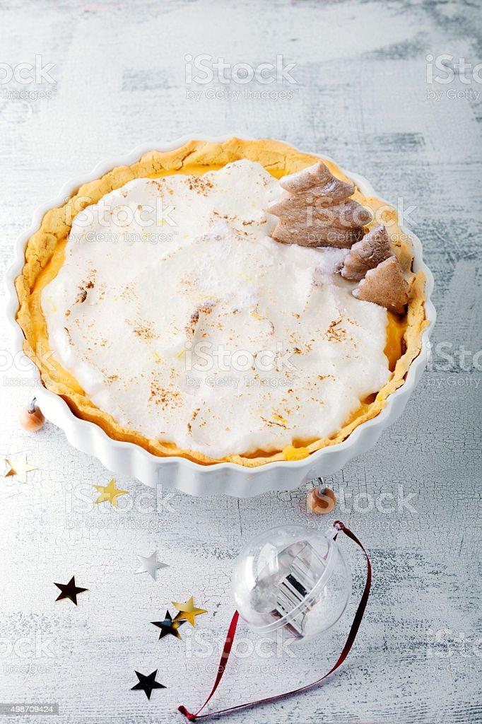 Christmas Lemon Tart stock photo