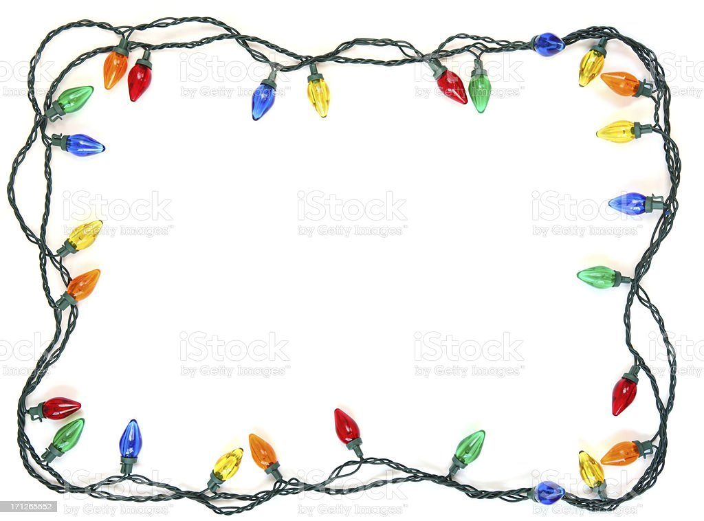 Christmas Light Frame stock photo