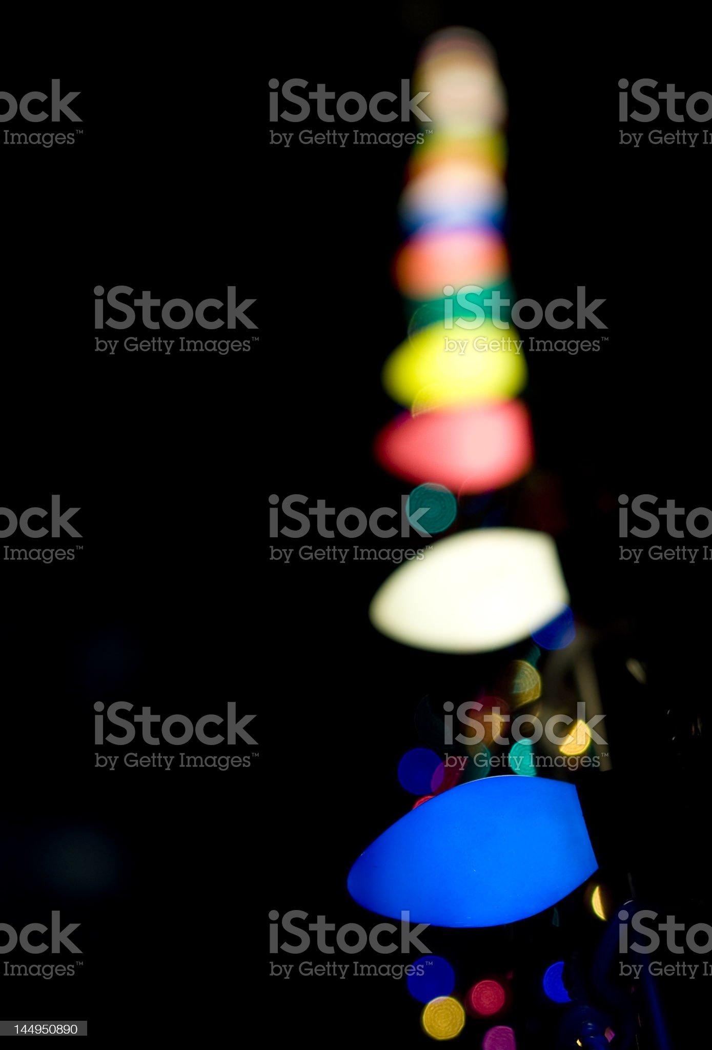 Christmas Light String royalty-free stock photo