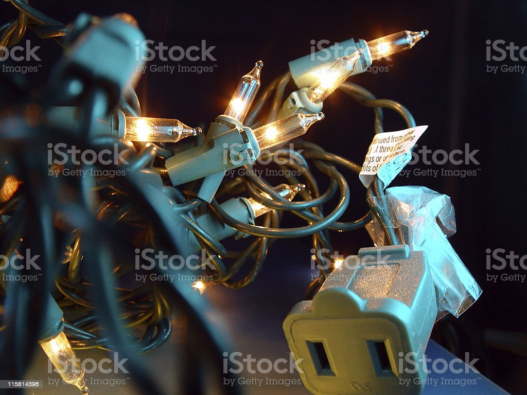 Christmas Light Tangle royalty-free stock photo