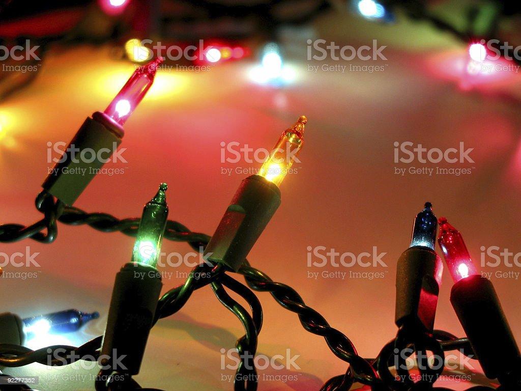 Christmas lights 1 stock photo