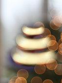 Christmas lights abstract circular bokeh background