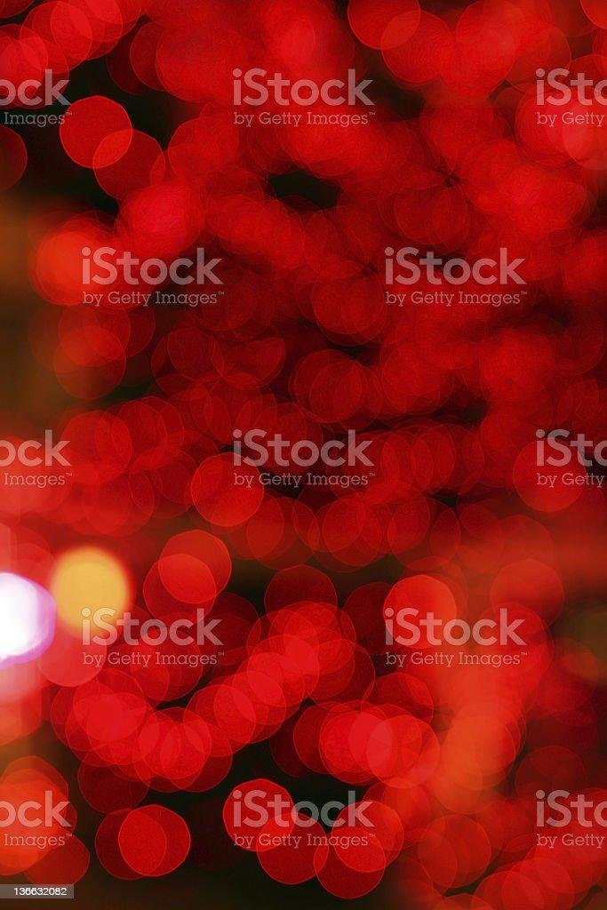 Christmas lights and bokeh (red) stock photo