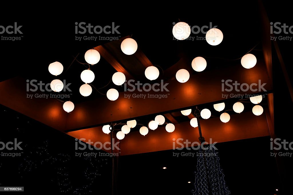 Luci  e decorazioni di Natale a Messina stock photo