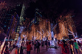 Christmas Lights at Ayala Triangle in Makati, Manila - Philipppines.