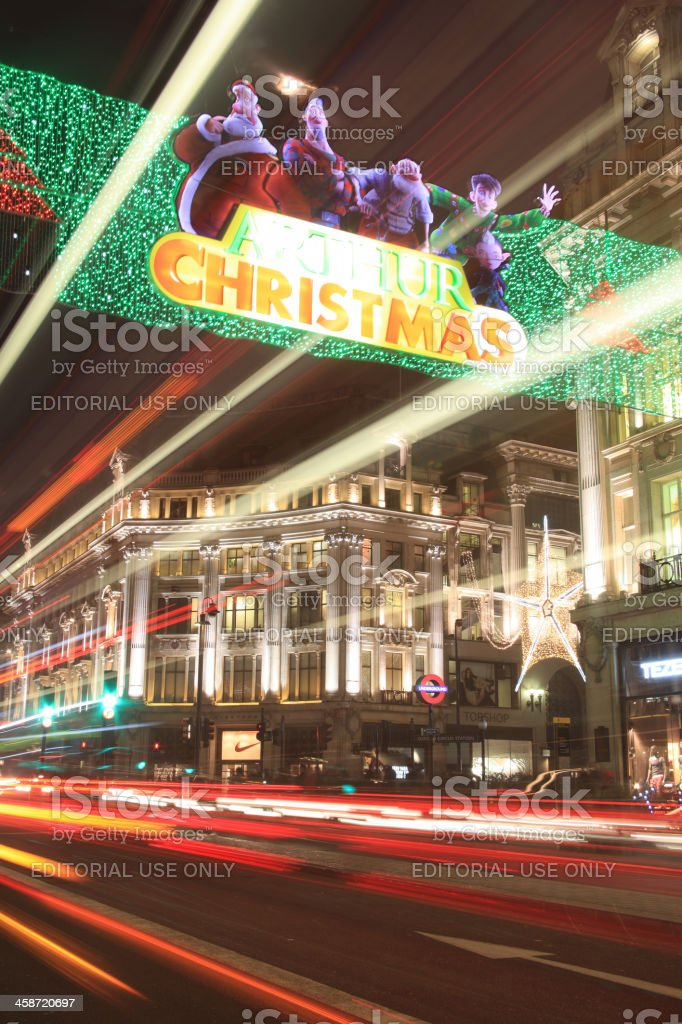 Christmas Lights At Oxford Circus royalty-free stock photo