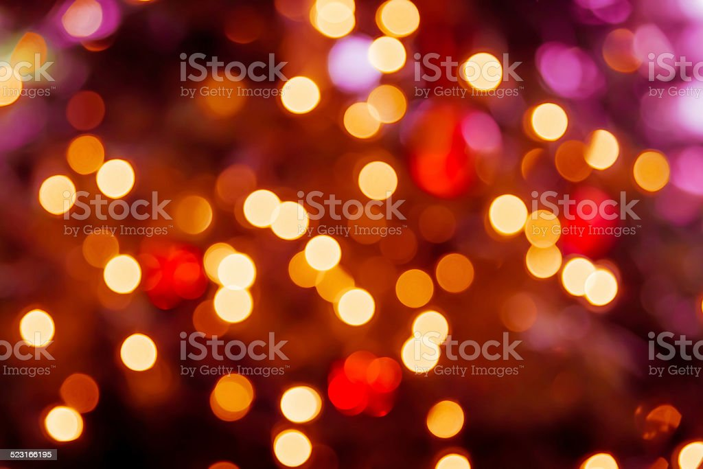 Christmas Lights Bokeh stock photo