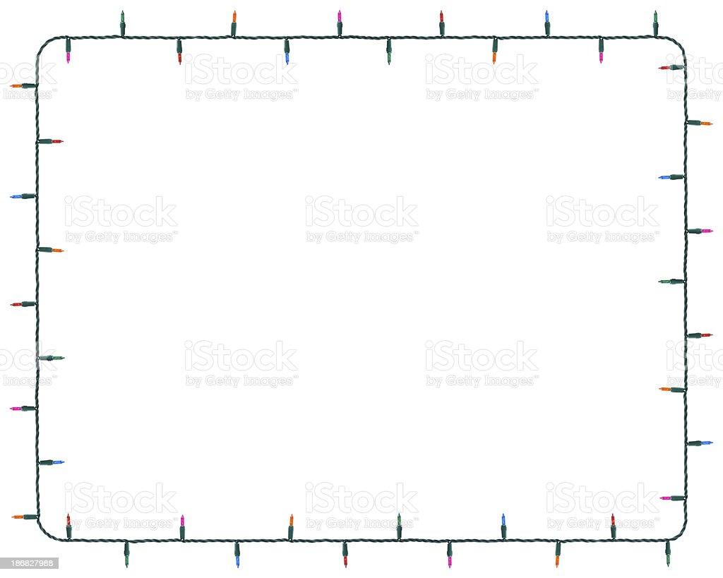 Christmas Lights Border (8x10 ratio) stock photo