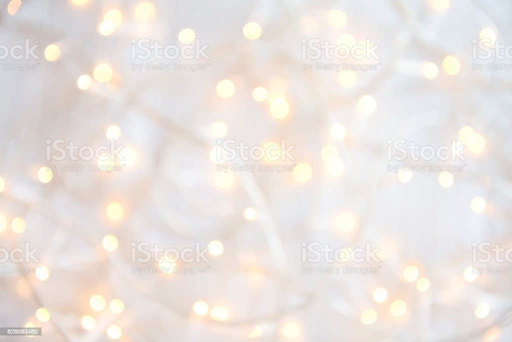 Christmas lights Defocused stock photo