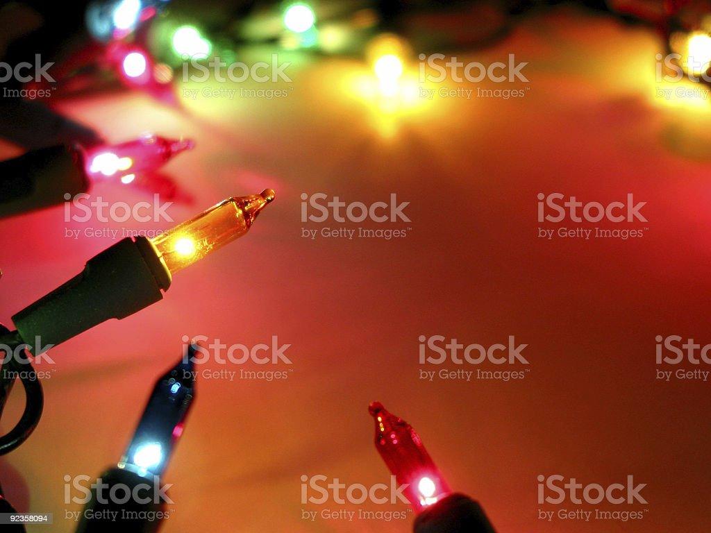 Christmas lights frame 2 stock photo