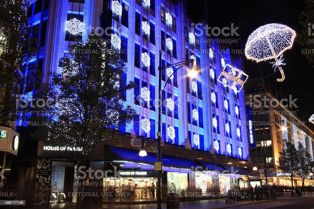 Christmas Lights in Oxford Street royalty-free stock photo