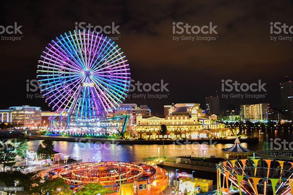 Christmas lights in Yokohama stock photo