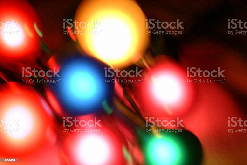 Christmas lights on the run royalty-free stock photo