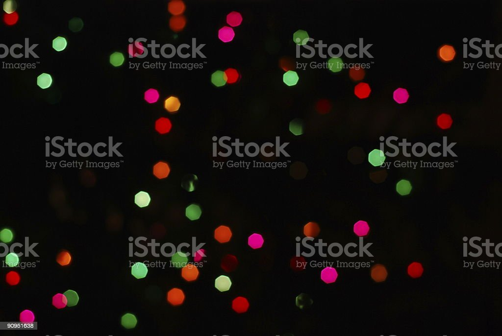 Christmas lights out of focus royalty-free stock photo