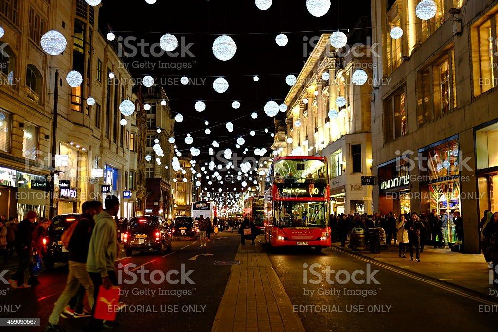 Christmas Lights, Oxford Street, London stock photo