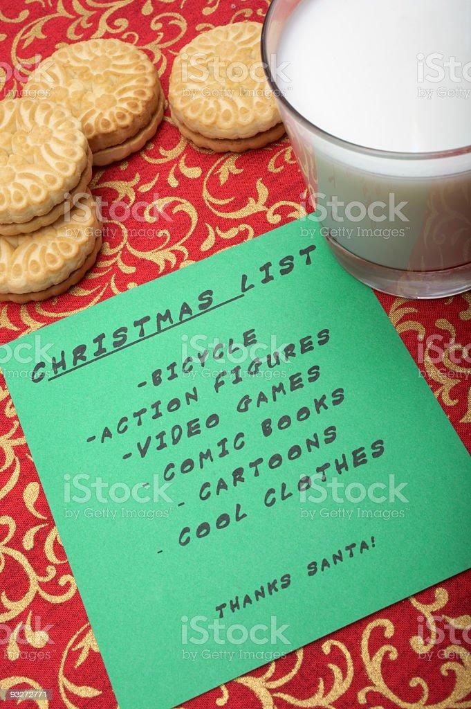 Christmas List stock photo