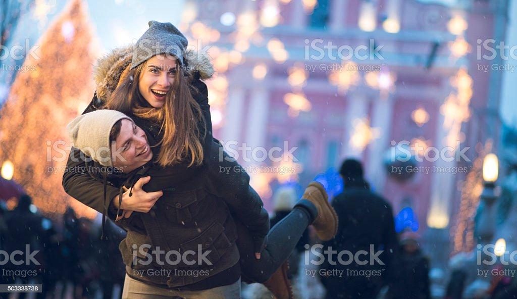 Christmas love stock photo