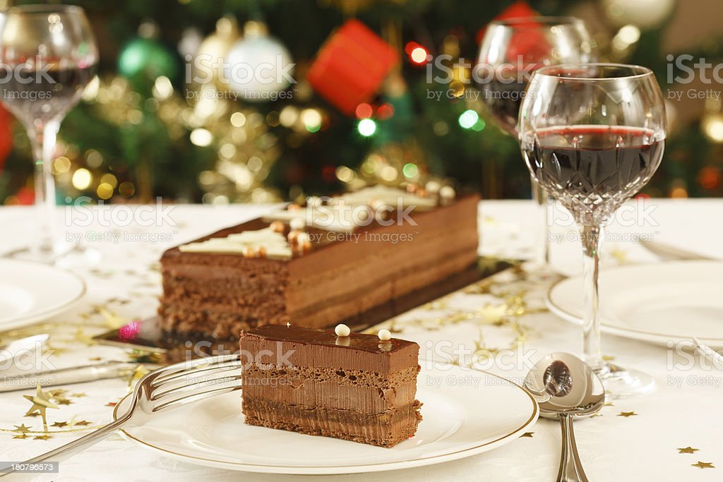 Christmas lunch table royalty-free stock photo