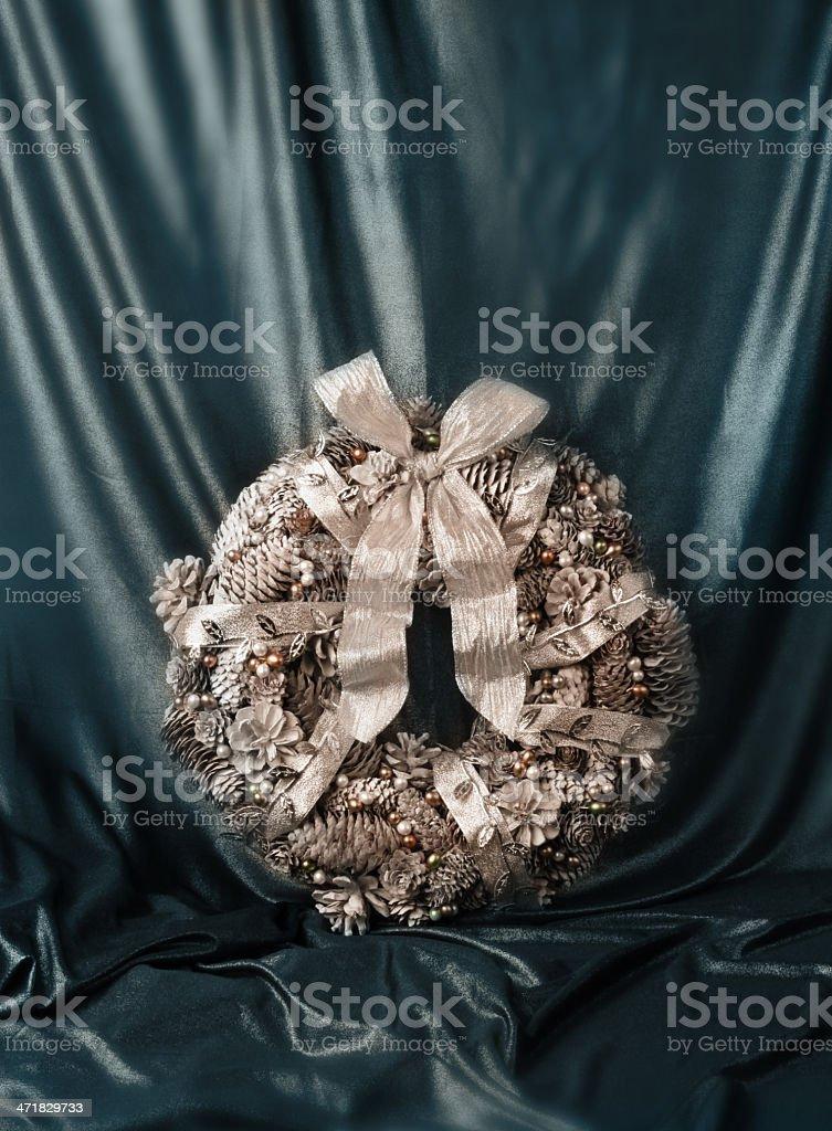 Christmas luxury wreath vintage style stock photo