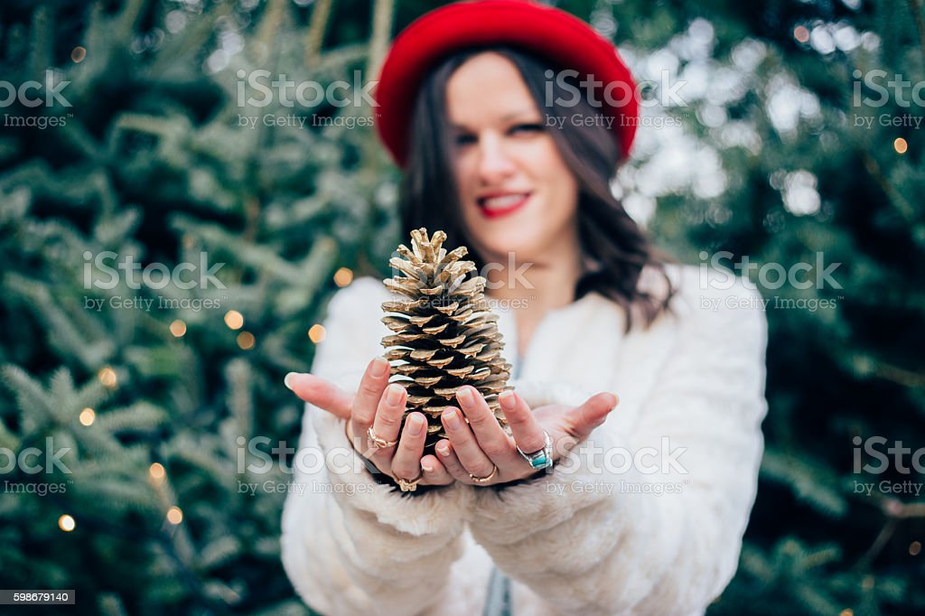 Christmas magic stock photo