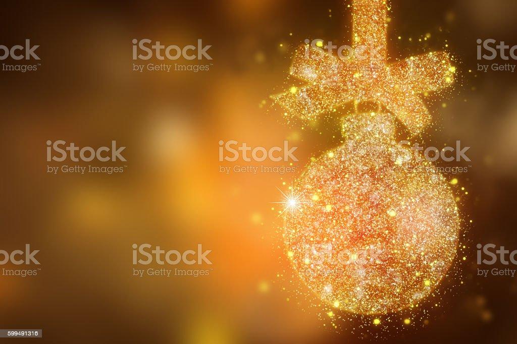 Christmas  magic sparkle glitter bauble -  xmas  background stock photo