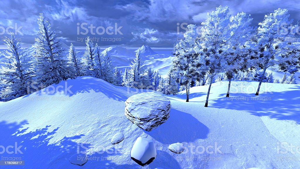 Christmas, magical forest royalty-free stock photo