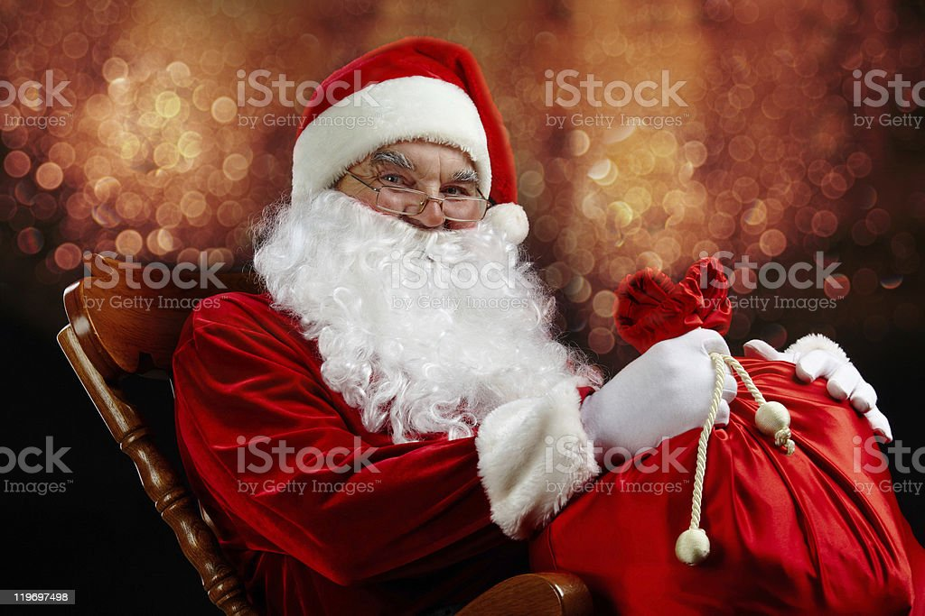 Christmas magician royalty-free stock photo