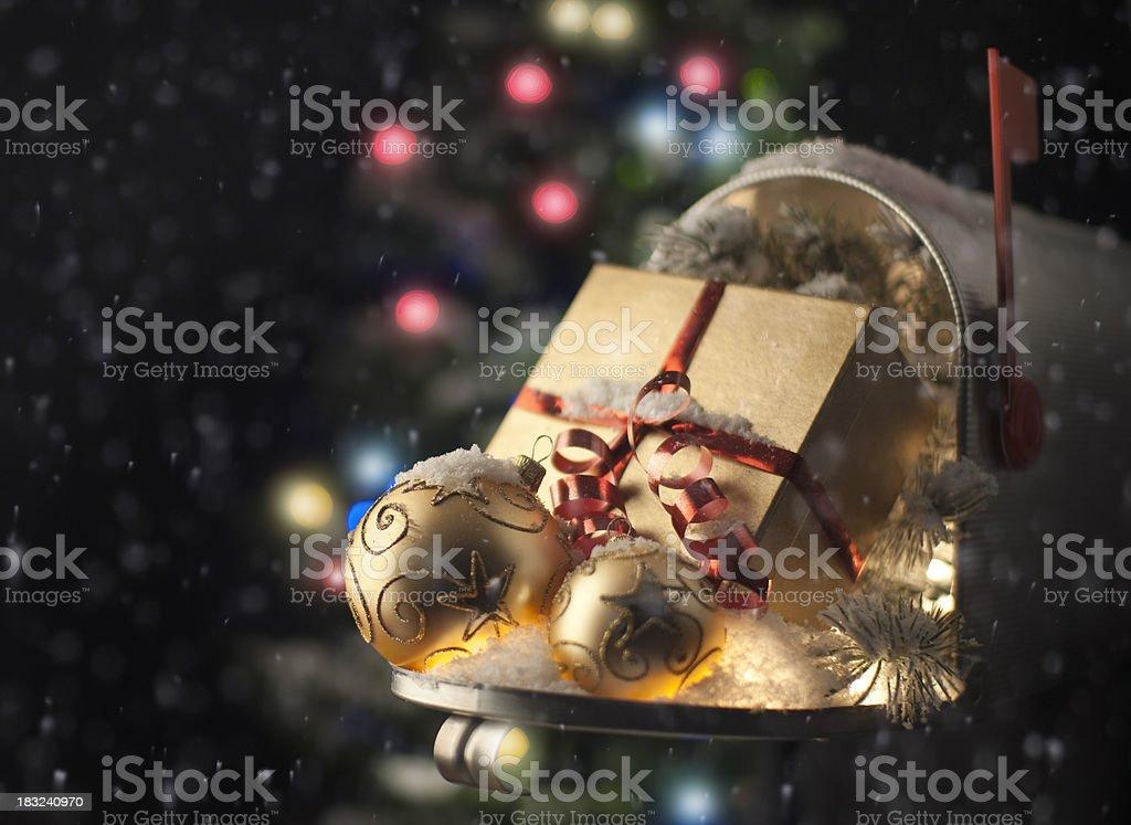 Christmas Mailbox royalty-free stock photo
