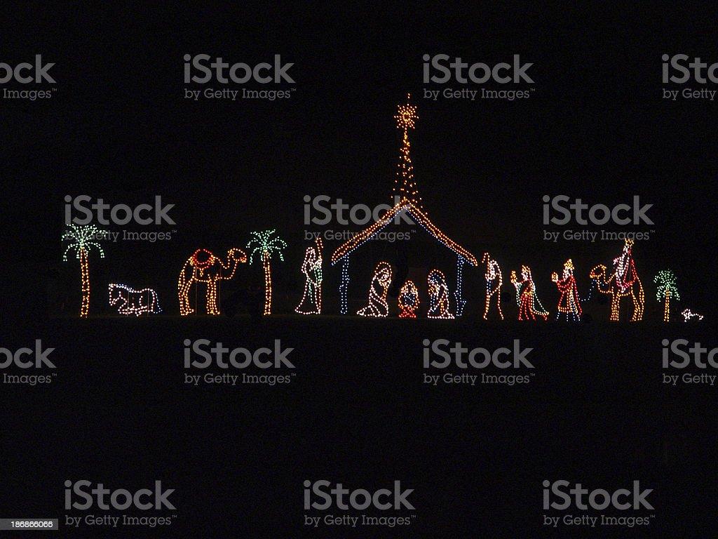 Christmas Manger stock photo